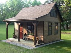 Amazing Shed Plans - A-Frame Cabins - Miller Storage Barns Now You Can Build ANY Shed In A Weekend Even If You've Zero Woodworking Experience! Start building amazing sheds the easier way with a collection of shed plans! Barn Storage, Outdoor Storage Sheds, Storage Shed Plans, Outdoor Sheds, Loft Storage, Diy Storage, Firewood Storage, Storage Ideas, Wood Shed Plans