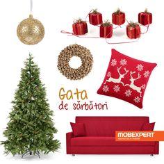 Pentru Crăciun, pregătește un decor magic, în culori specifice sărbătorilor. #moodboard #decoideea #craciun