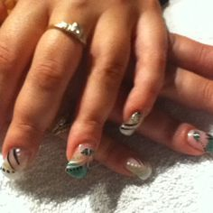 Saskatchewan Roughriders - these are awesome.very well done Get Nails, Hair And Nails, Sport Nails, Saskatchewan Roughriders, Addiction, Pride, Nail Designs, Nail Art, Awesome