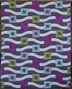 Love this curvy squares quilt design by Fat Quarterly. Perfect for our Cotton Supreme Solids.