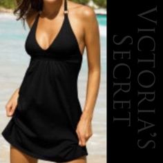 Victoria's Secret Sexy Black Halter Beach Dress 💋 Sexy black halter dress. Moda International by Victoria's Secret. Great condition. Soft stretchy fabric, with a built in bra. 💋 I also have this dress in white, look for it in my closet. 😊 Moda International Dresses