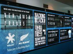 Bringing Kiwis closer to the All Blacks - Telecom BackingBlack Digital Wall
