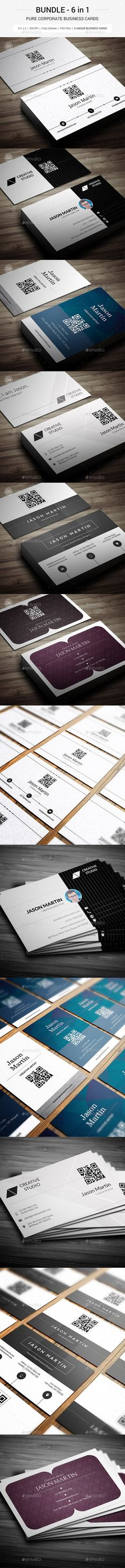 Bundle - Pure Corporate Business Cards Template #print #design Download: http://graphicriver.net/item/bundle-pure-corporate-business-cards-130/11996268?ref=ksioks