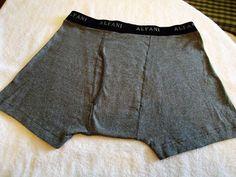 Men's ALFANI Boxer Underwear Sz L (36-38) Gray Small Stripe 100% Combed Cotton  #Alfani #BoxerBrief