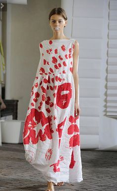 Daniela Gregis long summer dress, love the dress...not a fan of white lipstick