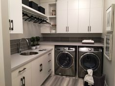 Did you know we specialize in full home remodeling? Whether you need a unique lighting fixture, upgraded windows or a complete living room overhaul, Cornerstone Builders has you covered. Large Laundry Rooms, Laundry Room Layouts, Laundry Room Organization, Laundry Closet, Laundry In Bathroom, Laundry Powder, Custom Kitchen Cabinets, Bathroom Cabinets, Modern Cabinets