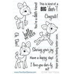 This adorable deer stamp set designed by Macy Wong is perfect for all sorts of occasions..