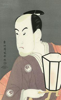 東洲斎写楽 三世坂東彦三郎の鷺坂左内 さんせいばんどうひこさぶろうのわしざかさない
