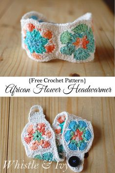 African Flower Motif Head Warmer By Bethany - Free Crochet Pattern - (whistleandivy) Love Crochet, Crochet Gifts, Knit Crochet, Crochet Owls, Crochet Headbands, Crochet Food, Crochet Animals, Crochet African Flowers, Crochet Flowers