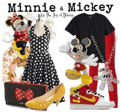 Couple outfits inspired by Minnie & Mickey Mouse!
