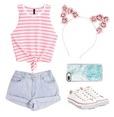 """""""summer days"""" by jord-xoxo ❤ liked on Polyvore featuring Converse, Casetify and Hot Topic"""