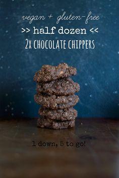 Half Dozen Double Chocolate Chippers -- vegan, gluten-free, and delicious! // neverhomemaker