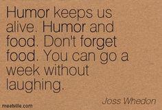Well said, Joss!