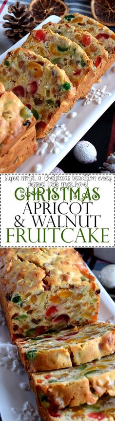 Cake aux fruits secs - Christmas Apricot and Walnut Fruitcake - Lord Byron's Kitchen Christmas Sweets, Christmas Cooking, Christmas Fruitcake, Christmas Cakes, Christmas Bread, Christmas Holidays, Cupcake Cakes, Cupcakes, Fruit Cakes