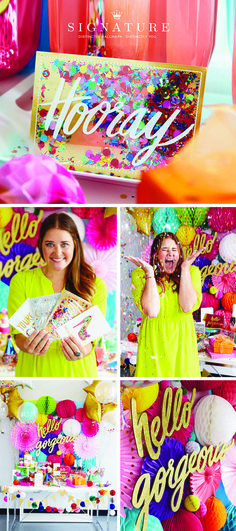 Start with a Hallmark Signature card. End with amazing party style. Complete with sequins, glitter, pull-string piñatas and push-pop confetti, this party was totally inspired by Signature card collaboration with Kristen Ley at Thimblepress. Check out more stylish Signature cards that could inspire your next party.