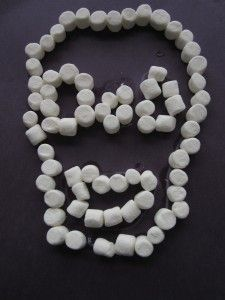 Marshmallow Skull Craft - - Pinned by @PediaStaff – Please visit http://ht.ly/63sNt for hundreds of pediatric therapy pins