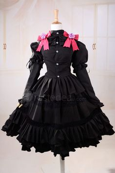 Date A Live Tokisaki Kurumi Black Gothic Lolita Cosplay Costume  http://www.trustedeal.com/Date-A-Live-Tokisaki-Kurumi-Black-Gothic-Lolita-Cosplay-Costume.html  #christmasgifts