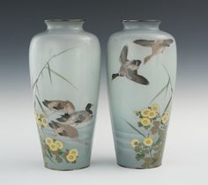 Cloisonne Vases - Ando Jubei