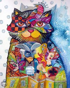 """""""Carnaval Cat"""" par Oxana Zaika"""