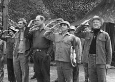 Still of Alan Alda, David Ogden Stiers, William Christopher and Jamie Farr in M*A*S*H
