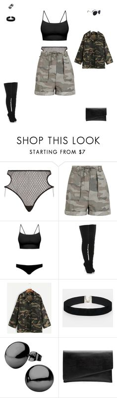 """""""#5"""" by dopey-stasia-sucker-for-fashion ❤ liked on Polyvore featuring Agent Provocateur, Topshop, Melissa Odabash, Christian Louboutin, ASOS and Witchery"""