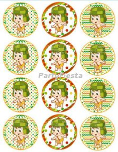 Inspired El Chavo Cupcake Topper - Stickers GoPartyFiesta