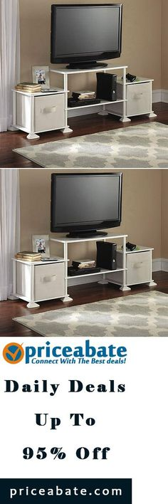 #priceabatedeals TV Stand Entertainment Media Center Storage Unit Console Home Furniture Cabinet - Buy This Item Now For Only: $35.95