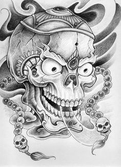 skulls tattoo flash - Google Search
