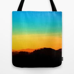 Colorful sundown scenic view | landscape photography Tote Bag by Patrick Jobst | Society6. Designer tote bag, durable, washable, comfortable, available in 3 different sizes. #handbag #accessories