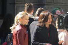 Jennifer & Lana on set - March 28, 2016