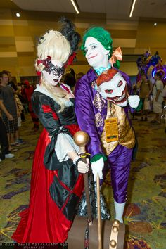Harley Quinn and Joker #Cosplay | Phoenix Comicon 2014 - Saturday