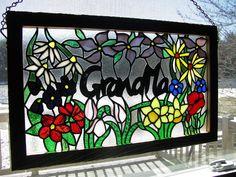 Stained Glass Grandma Panel by RedfordGlassStudio, via Flickr