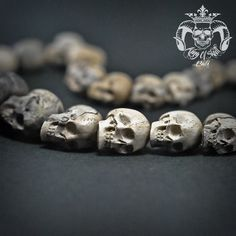 Hand Carved Sculpture 29 Tamarind Wood Human Skull into Necklace Oddities Find this skull on Etsy