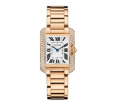 There's nothing more classic — or covetable — than a Cartier watch. We're absolutely in love with Cartier's newest Tank model, the Anglaise, dipped in 18-carat pink gold and finished off with brilliantly cut diamonds.  Contact Cartier for