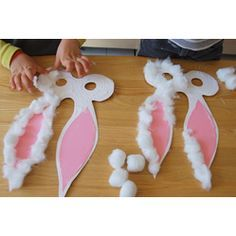 Easter unit, Bunny masks. Make the same week as we make the carrot poster.