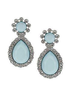 Pale blue stone drop earrings by Dorothy Perkins