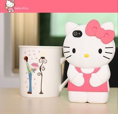 Lovely & Cuties 3D Hello Kitty Silicone Case Cover for iPhone 4/4S-- ruby would approve
