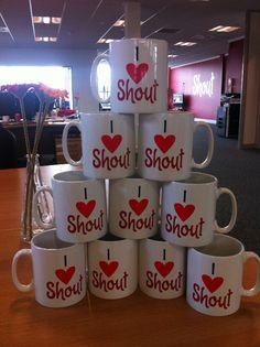 We love Shout, we really do. Innovation, Mugs, Digital, Tableware, Life, Dinnerware, Cups, Dishes, Mug