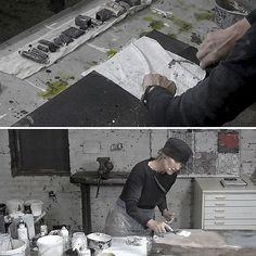 Geistreich 5 Abstract Expressionism, Abstract Art, Painters Studio, Textiles, Process Art, Garden Shop, Art Techniques, Art Studios, Artist At Work