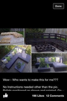 SKIDS!! who knew.. DIY furniture - i should be doing this....for the porch that I will have some day!