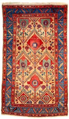 Persian Hamadan Rug Period / Date 19th century  last quarter (1875 - 1899)