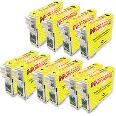 InkGrabber.com 10 Pack of Remanufactured Epson 125 Series Ink Cartridges (4 Black and 2 of each Color) (Epson Stylus NX125, Epson Stylus NX127, Epson Stylus NX130, Epson Stylus NX230, Epson Stylus NX420, Epson Stylus NX625, Epson Stylus NX530, Epson WorkForce 320, Epson WorkForce 323, Epson WorkForce 325, Epson WorkForce 520, Epson WorkForce 525)