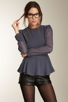 Whitney Eve Hercules Blouse on HauteLook Fashion Line, Fashion Beauty, Fall Outfits, Fashion Outfits, Womens Fashion, Look Short, Blazers, Shorts With Tights, Future Fashion