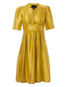 Cynthia Rowley Carry On Dress in Canary - dress I just bought on mega sale to wear at a wedding in a few weeks:-)