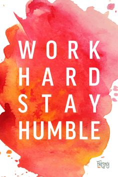 Daily Fitness Motivation: One of the most important things to remember when working hard and seeing results, is to stay humble.