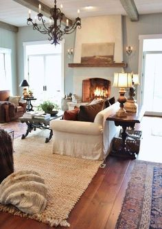 33 Amazing Modern Farmhouse Living Room Decor - Home Design Modern Farmhouse Living Room Decor, Home Living Room, Living Room Designs, Living Spaces, Farmhouse Style, Rustic Farmhouse, Modern Living, Farmhouse Design, Rustic Design