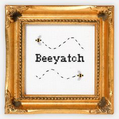 Beeyatch Cross-Stitch Kit now featured on Fab.