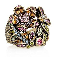 "Heidi Daus ""Secret Garden"" Crystal-Accented Floral Ring at HSN.com."
