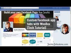 How to make custom social media app tabs for Facebook: video tech tutorial