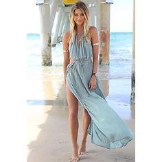 Сексуальные платья/Пляж - ЖЕНЩИНЫ - Платья ( Шифон Без рукавов - USD $ 13.99